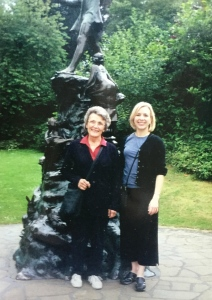 Mom and me in Kensington Gardens