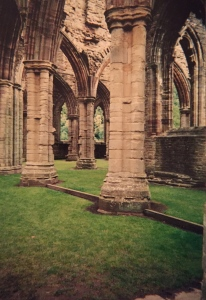 Maybe that pig could finally shake the monkey off his back amongst the columns of Tintern Abbey