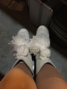 Niece Colie outfitted me with some fab pom-poms this year