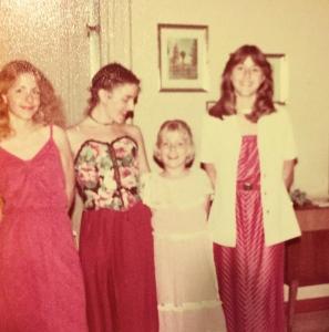 Susan, Elizabeth (Debby), me, Julie