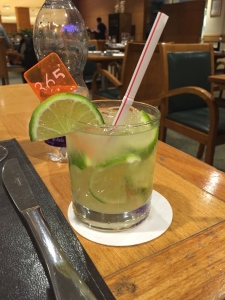 I was not too embarrassed to take a picture of my caipirinha Saturday night